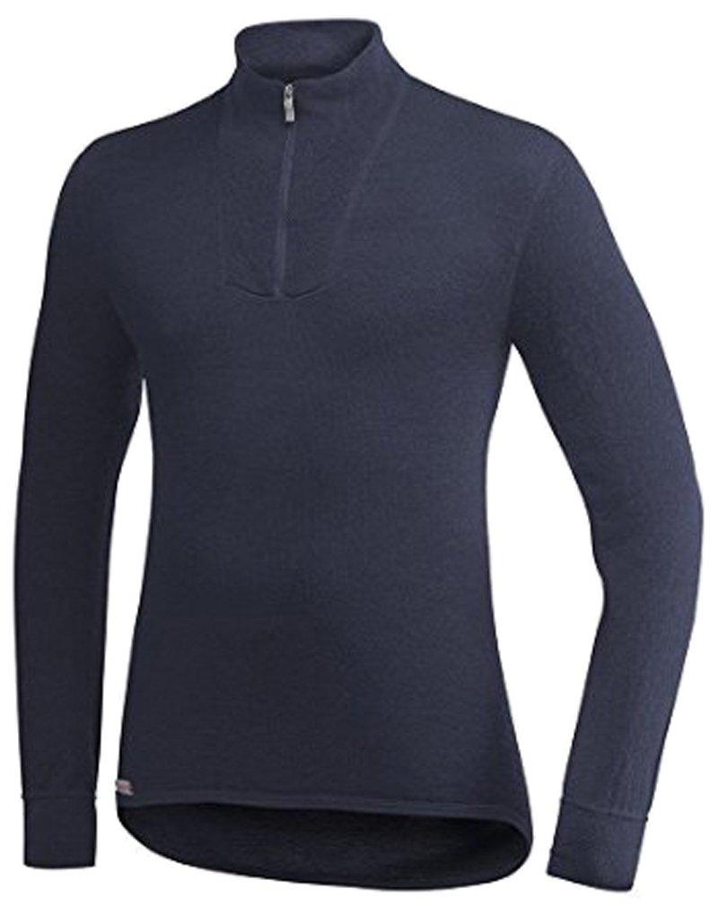 Woolpower Polohemd Zip Turtleneck 400, schwarz günstig online kaufen