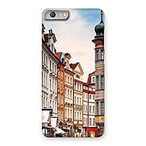 Gorgeous Prague Street Multicolor Print Back Case Cover for Micromax Canvas Knight 2
