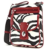 Zebra Print Cross Body Messenger Bag Handbag