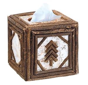 Birch & Twig Square Tissue Box Cover