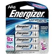 e² Lithium Batteries, AA, 8 Batteries/Pack
