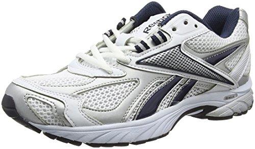 Reebok - Pheehan Run, Scarpe da corsa Uomo, Multicolore (Syn-White/Silver/Navy), 44 EU