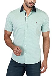 Botticelli Plain Shirts for men-Green