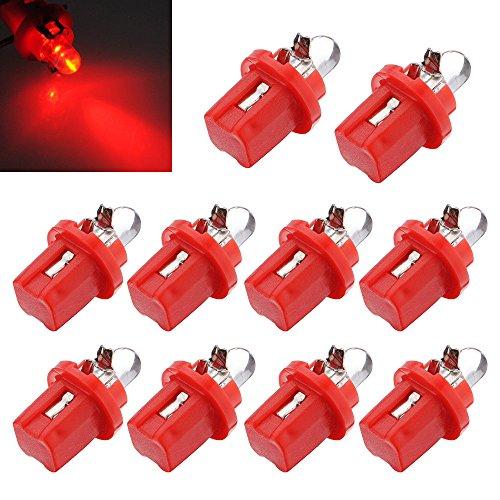 toogoo r 10x ampoule led compteur tableau de bord b8 5d t5 avec support rouge tuning auto. Black Bedroom Furniture Sets. Home Design Ideas