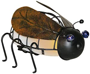 Woods International 7245 June Bug Lighted Metal Statue, 5.5-Inch by 8.5-Inch by 7-Inch (Discontinued by Manufacturer)