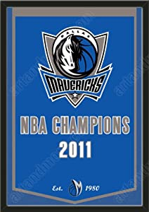 Dynasty Banner Of Dallas Mavericks-Framed Awesome & Beautiful-Must For A... by Art and More, Davenport, IA