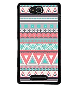 Aart Designer Luxurious Back Covers for Sony Xperia C by Aart Store.