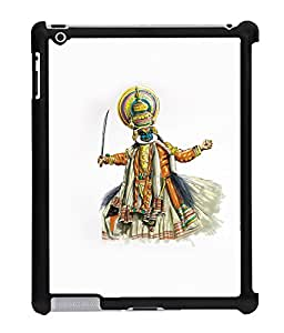 Fuson 2D Printed Kathakali Designer Back Case Cover for Apple iPad 4 - D618