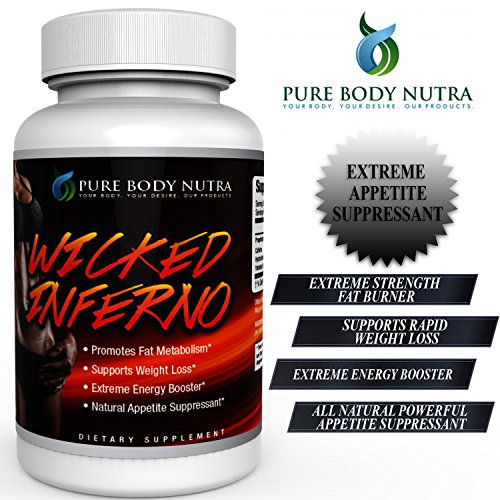 #1 Thermogenic, Fat Burner , Weight Loss Supplement. Fat Burner Designed for EXPEDITED WEIGHT LOSS. Contains 8 EXTREME weight loss ingredients in only 2 CAPSULES DAILY. EXTREMELY POTENT FAT BURNER ! Try WICKED INFERNO by Pure Body Nutra NOW ! 7 1oz 200g hoodia gordonii extract powder natural fat burners for weight loss free shipping