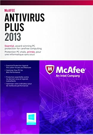 McAfee Antivirus Plus - 3 PC - 2013 (bilingual software)