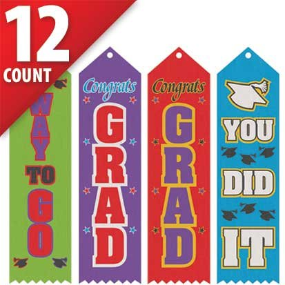 Grad Recognition Award Ribbons 12ct