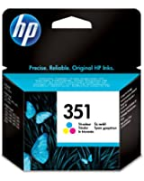 HP 351 Cartouche d'encre d'origine Cyan Magenta Jaune
