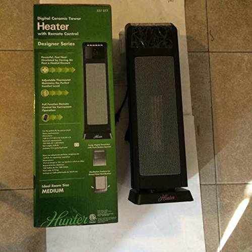 Digital Ceramic Tower Heater 1500-watt 24 inch (Hunter Heater Ceramic compare prices)
