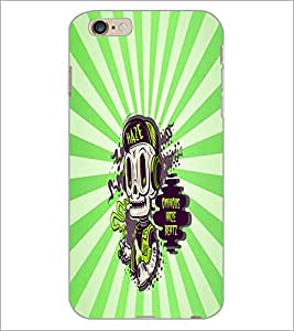 PrintDhaba Music Monkey D-5850 Back Case Cover for APPLE IPHONE 6 (Multi-Coloured)