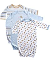 Luvable Friends 2 & 3-Pack Rib Knit Infant Gowns