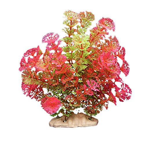 Plante artificielle aquatique en plastique rose vert for Amazon plante artificielle