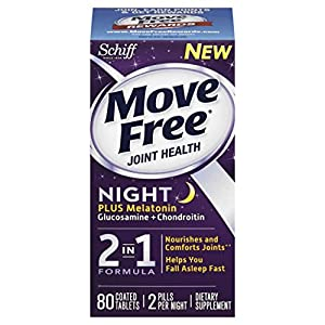 Move Free Night Glucosamine Chondroitin and Melatonin Joint Supplement, 80 Count