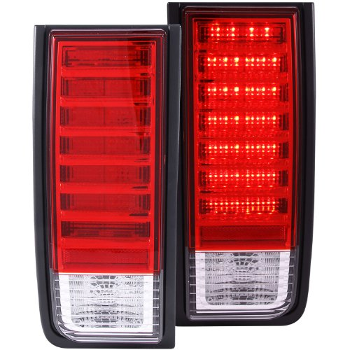 Anzo Usa 311068 Hummer H2 Red/Clear Led Tail Light Assembly - (Sold In Pairs)