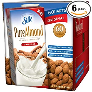 Review Silk Pure Almond Original, 32-Ounce Aseptic Cartons (Pack of 6)