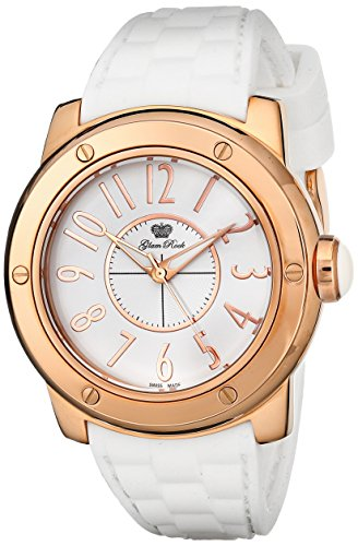 Glam Rock Women's GR50025 Aqua Rock White Dial White Silicone Watch