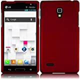 Leegoal(TM) Red Hard Case Snap On Rubberized Cover For LG Optimus L9 P769 (T-Mobile)