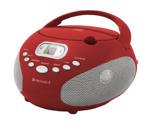Riptunes Cdb200 Portable Cd Boombox (Red)