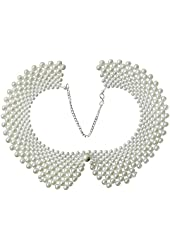 Womdee(TM) False Collars with Artificial Pearl-White With Accessory