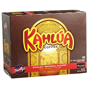Timothy's World Coffee, Kahlua Original, 24-Count K-Cups for Keurig Brewers