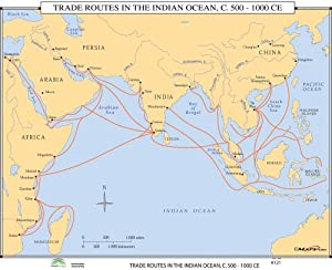 Amazon.com: Trade Routes Indian Ocean (World History Wall ...