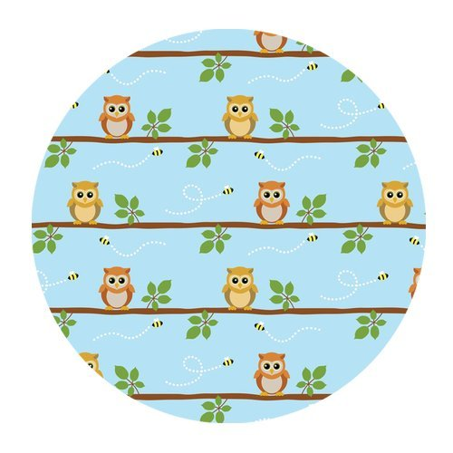 Generic Personalized Lovely Cartoon Cute Baby Owl And Bee For Round Mouse Pad front-540970