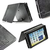 igadgitz Schwarz Echt Leder Tasche Case Hülle Etui für Archos 70 Android Internet Tablet 8GB 250GB