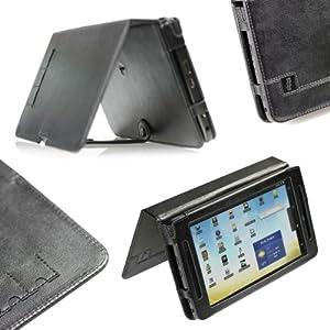 iGadgitz Genuine Leather Case Cover for Archos 70 Internet Tablet - Black