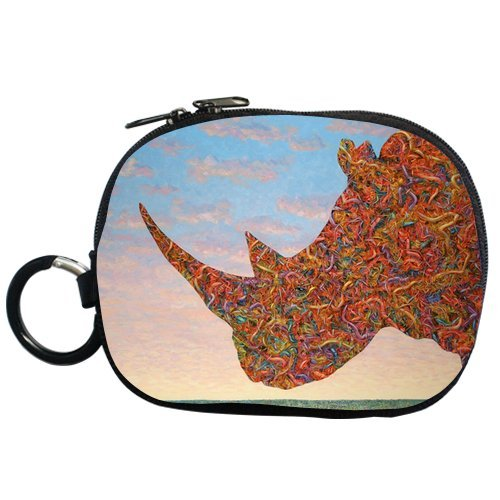 Art Design Colorful Rhino Personalized Coin Purse (Two Side) front-48048