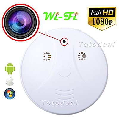HD 1080p WiFi Spy IP Camera Nanny Cam Hidden Smoke Detector Motion Detection DVR