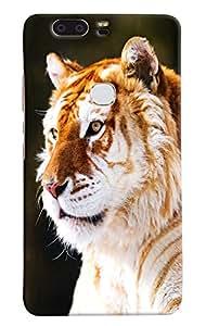 Omnam White Tiger Printed Designer Back Cover Case For Huawei Honor V8