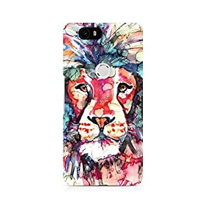 Mobicture Lion Premium Designer Mobile Back Case Cover For Huawei Nexus 6P