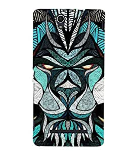 Fuson Premium Back Case Cover Designed bull With blue Background Degined For Sony Xperia C3 Dual D2502::Sony Xperia C3 D2533