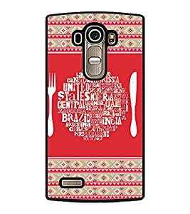 PRINTVISA United States with Pattern Premium Metallic Insert Back Case Cover for LG G4 - D5811