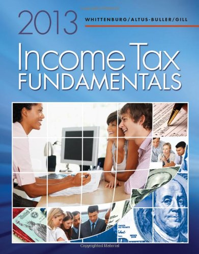 Income Tax Fundamentals 2013 (With H&R Block At Home(Tm) Tax Preparation Software Cd-Rom) front-976591