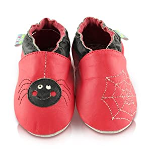 Snuggle Feet - Suaves Zapatos De Cuero Del Bebé araña - BebeHogar.com