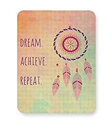 PosterGuy Dream Catcher Dream, Catcher, Watercolor, Colorful, Bright, Believe, Achieve, Feather, Quote Mouse Pad