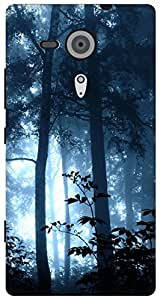 The Racoon Lean jungle magic blue hard plastic printed back case / cover for Sony Xperia SP