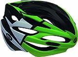 Bell Array Helmet - Black/White/Green, Medium