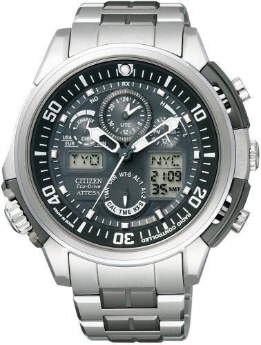CITIZEN (シチズン) 腕時計 ATTESA アテッサ Eco-Drive エコ・ドライブ 電波時計 ワールドタイム ジェットセッター ATV53-2932 メンズ