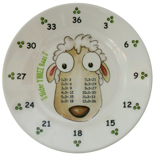 The Multiples Times Table Dinnerware Sister Three Baas 6.5 inch Melamine Plate
