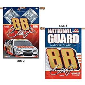 NASCAR #88 Dale Earnhardt Jr House Flag 2 Sided Vertical Banner 2014 National Guard... by WinCraft