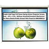 Inlight Wall Type Pull Down Spring Action Projector Screen, Size: - 6 Ft. X 4 Ft. (In Imported High Gain Fabric...