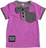 2014年夏物 JEANS-b(ジーンズベー) スラブ天竺製品洗い加工 チョウネクタイ半袖Tシャツ NO.B-340141