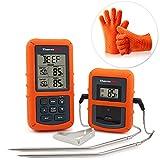 ThermoPro TP20 Digital BBQ Thermometer Wireless mit 2 Temperaturfühlern für BBQ