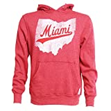 Miami Redhawks Adult Retro State Hooded Sweatshirt - Red